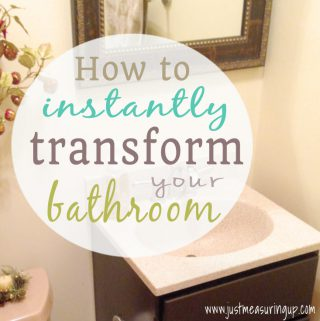 Gel Staining Bathroom Cabinets for an Instant Makeover