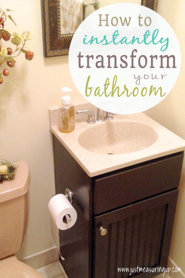 How to Gel Stain your Bathroom Vanity