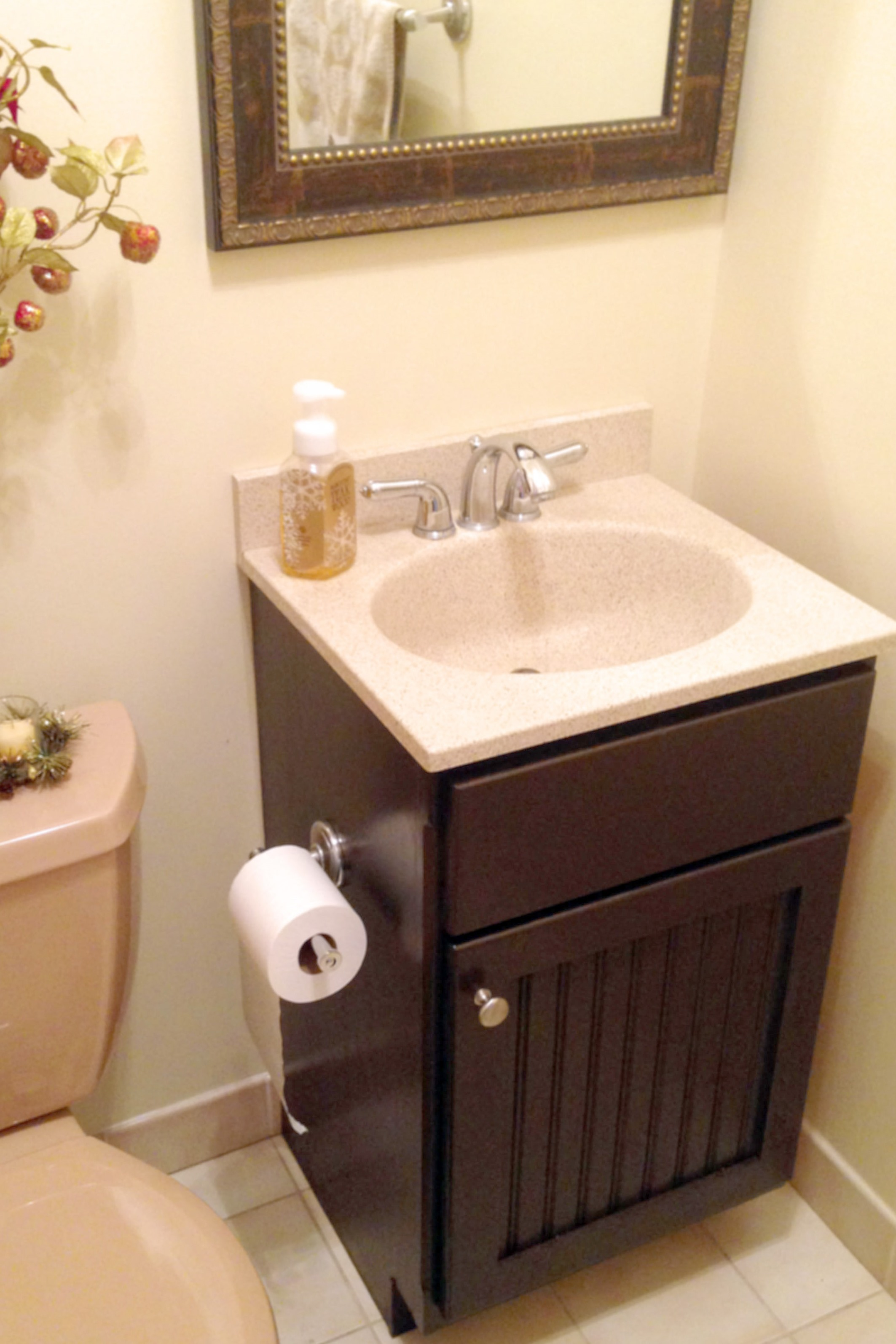 Gel Staining Bathroom Cabinets For An Inexpensive Easy Update