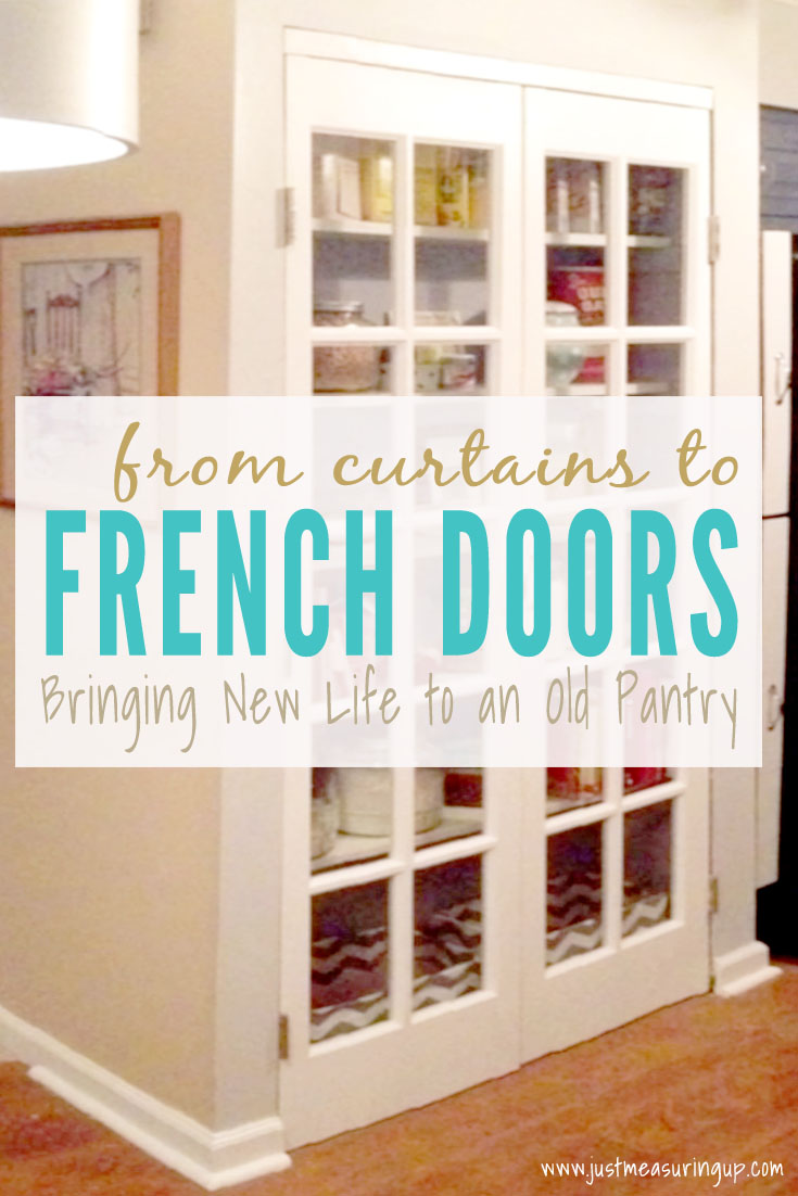 Installing French Doors on the Pantry for a Quick Update