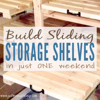 How to Make Storage Shelves that Slide - Easy Tutorial