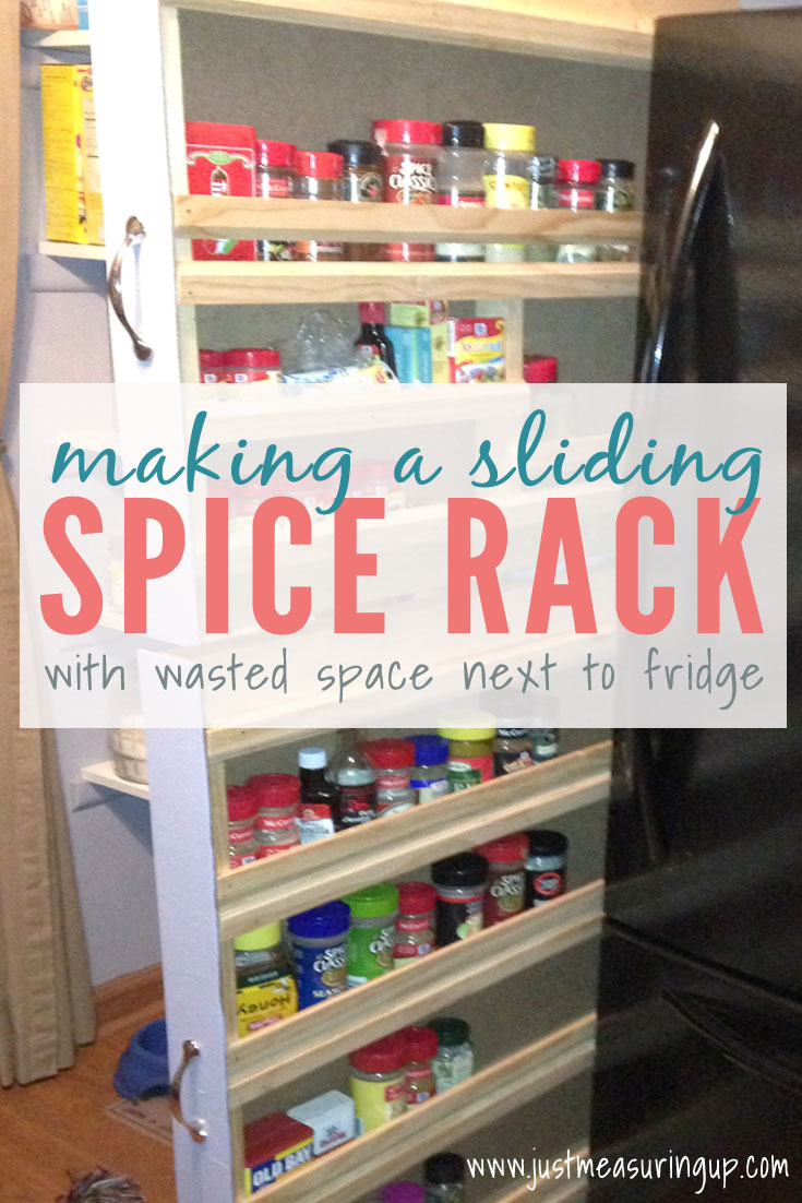 How to Build a Sliding Spice Rack in your Kitchen