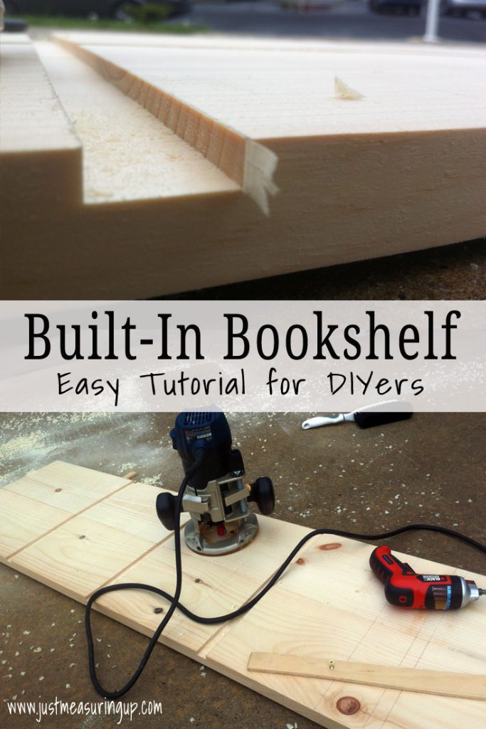 How to Make a Built-In Bookshelf - Great Project for Beginner DIYers