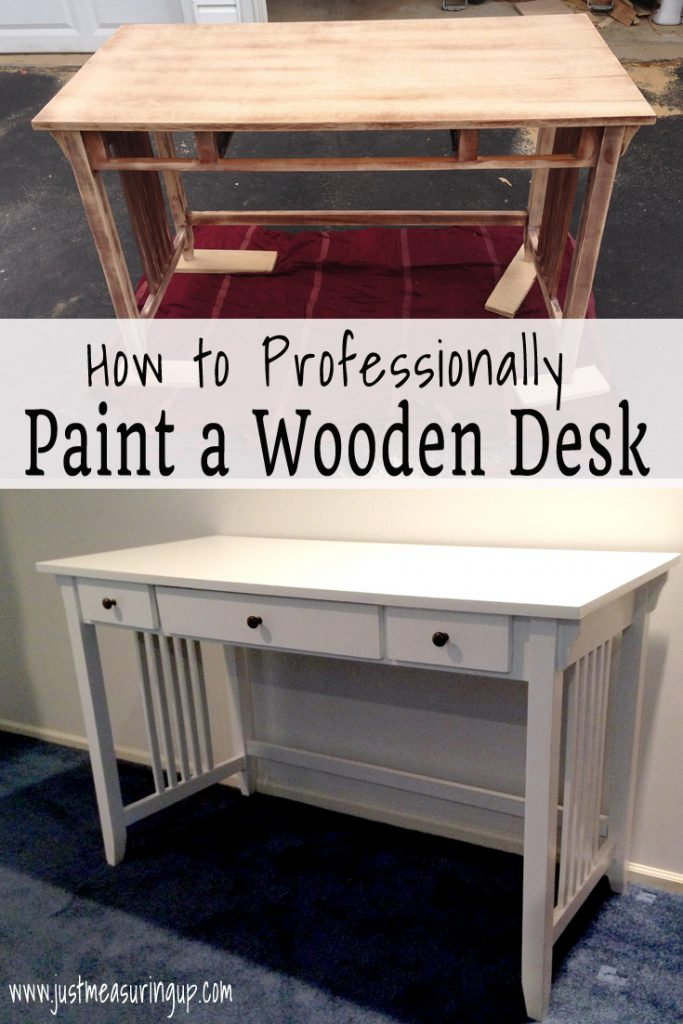 Painting a Wooden Desk - Easy Tutorial