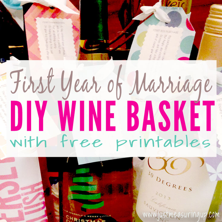 How To Easily Make A Wedding Wine Basket Just Measuring Up