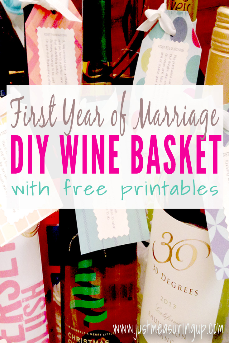 Perfect wedding or shower gift! Making a milestone wedding wine basket!