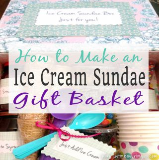 DIY Ice Cream Sundae Gift Box