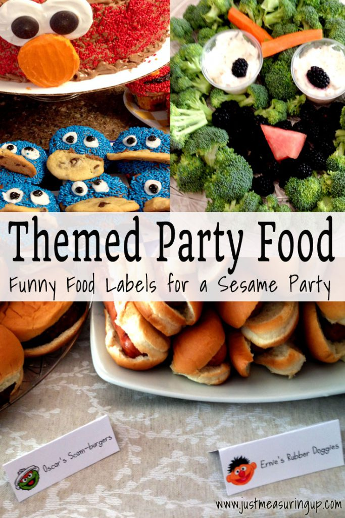 Food Labels for Sesame Street Party - Free Printables