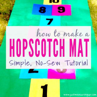 How to Make a Hopscotch Mat that you don't have to sew!