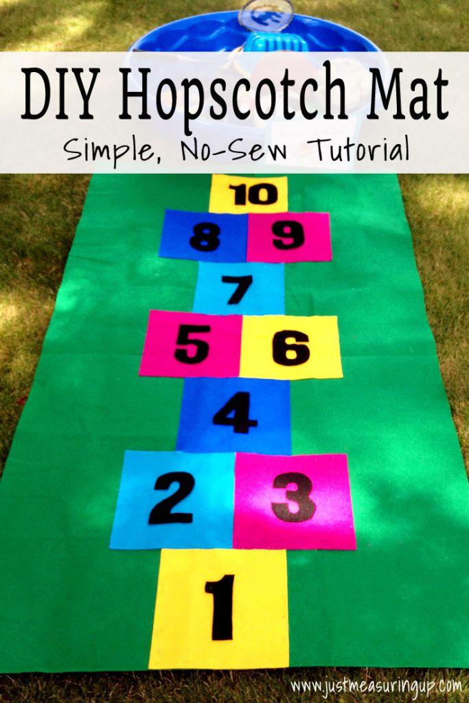 How to Make a Hopscotch Mat from Felt