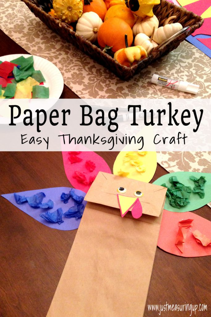Paper Bag Turkey Craft - Easy Thanksgiving Learning Activity