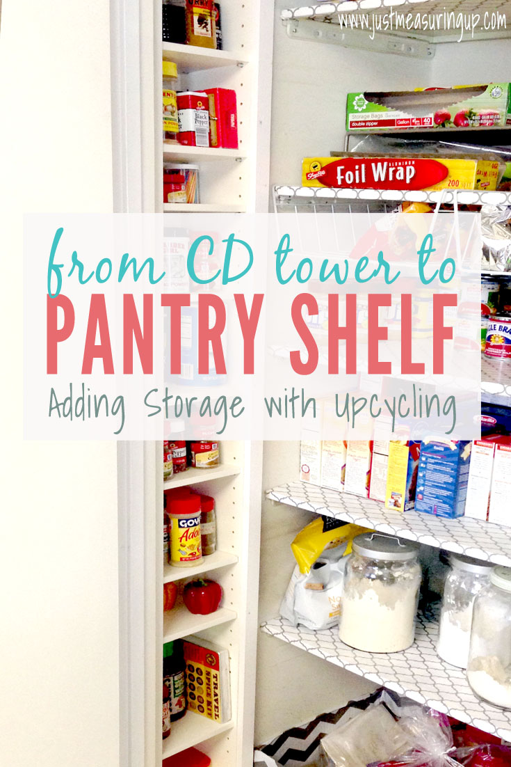Turning a CD Tower into Pantry Storage - Awesome Upcycle!