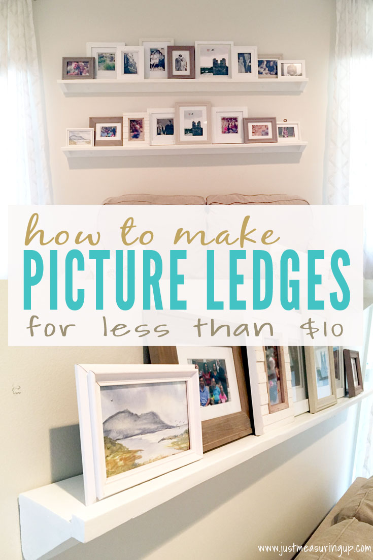 Making DIY Picture Ledges for Under $10