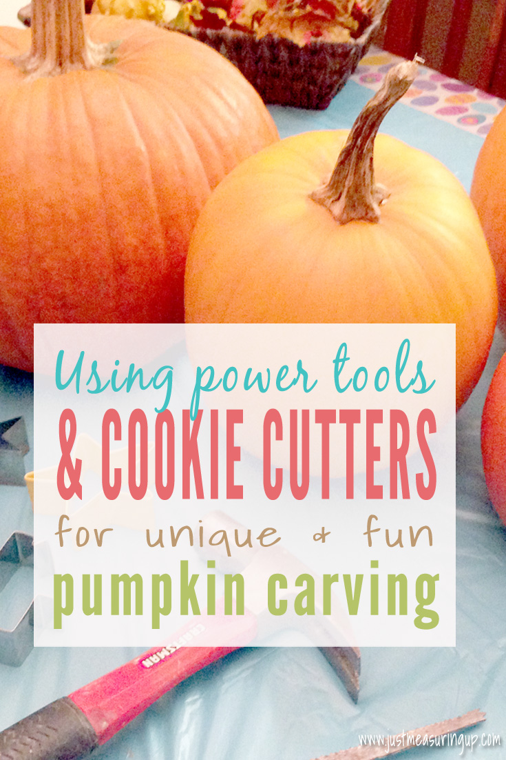 Pumpkin Carving with Power Tools and Cookie Cutters