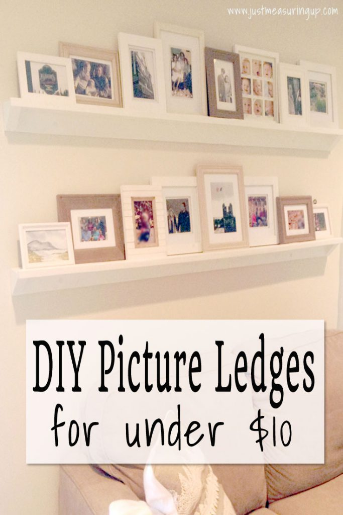 How to Make DIY Picture Frame Ledges for Under $10