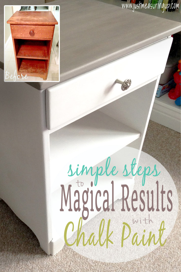 4 Easy Steps to Magical Results with Chalk Paint - Simple Tutorial for Refinishing Furniture