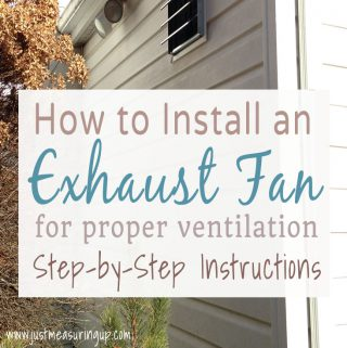 Easy to follow instructions for installing an exhaust fan