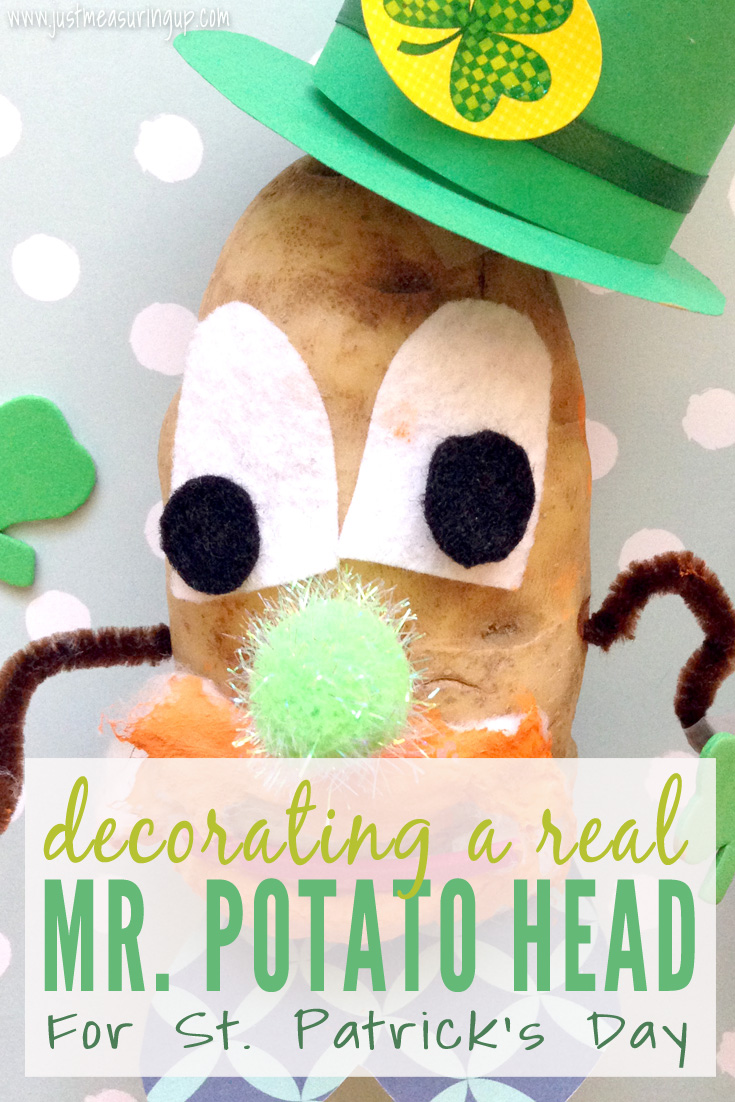 Making a Cute St. Patrick's Day Craft - Decorating a Real Potato