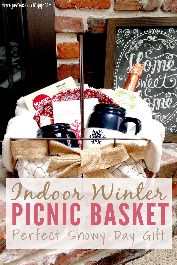 Indoor Winter Picnic Basket - Perfect Gift Idea