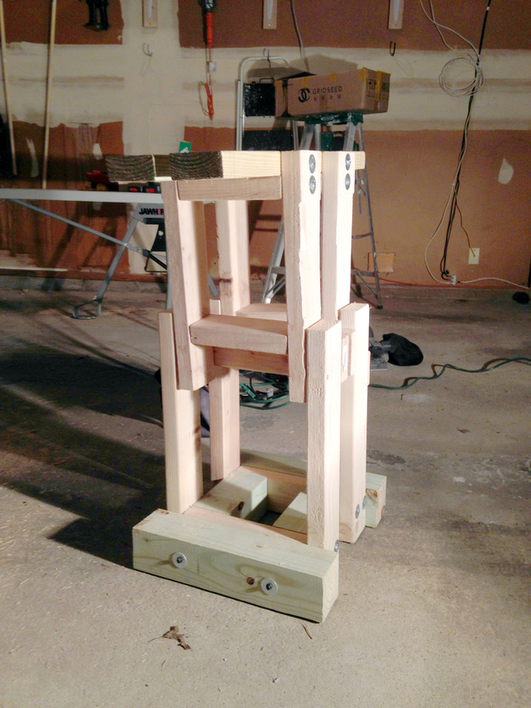 Making a DIY Speed Bag Boxing Platform that Folds