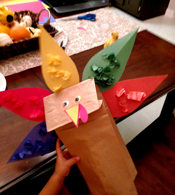 Paper Bag Turkey Craft - Thanksgiving Activity for Kids