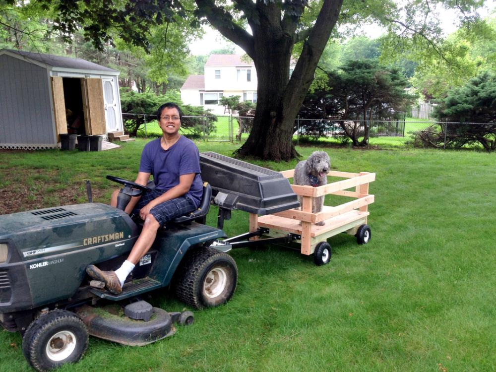 How to Build a DIY Utility Wagon that Stands Alone or Attaches to Mowers