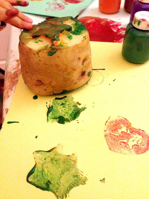 Potato Stamped Cards that Kids Can Make - Easy Tutorial