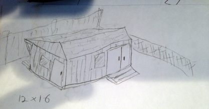 How to Build a DIY Storage Shed - Initial Sketch