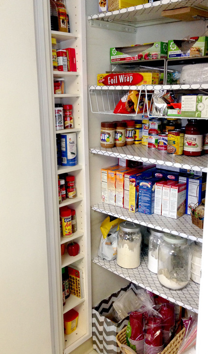 Extra Pantry Storage - Repurposing a CD Tower into a Pantry Shelf