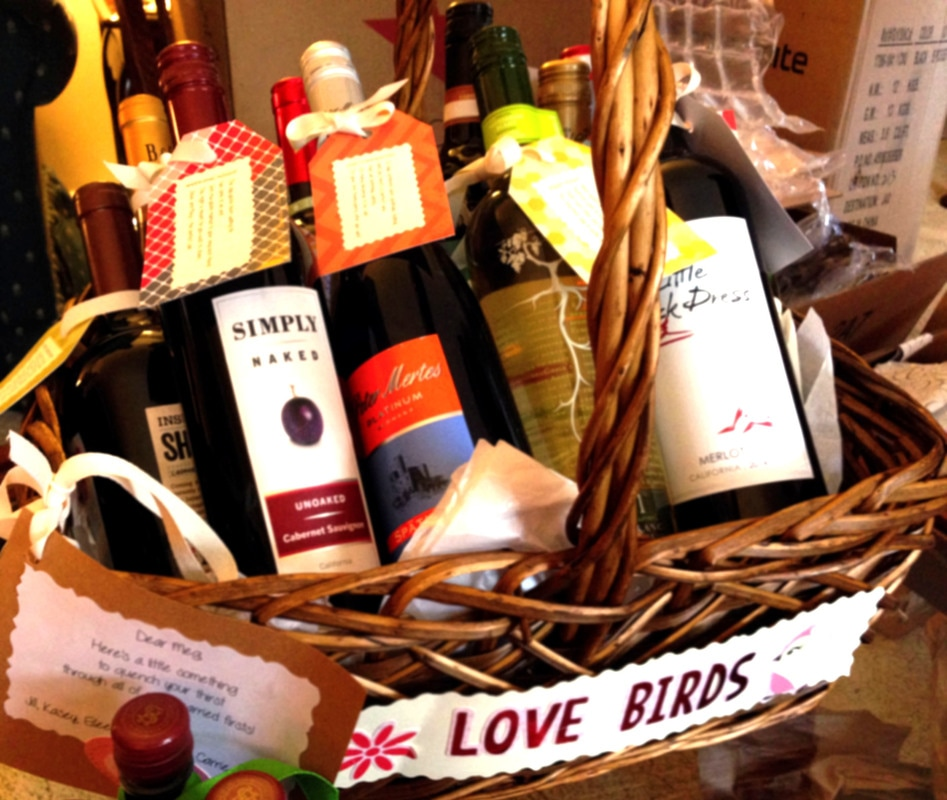 Wedding Wine Milestone Basket - free printables