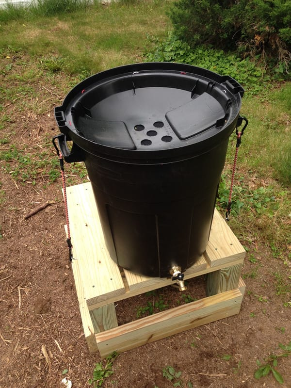 How to Make a DIY Rain Barrel from a Trash Can