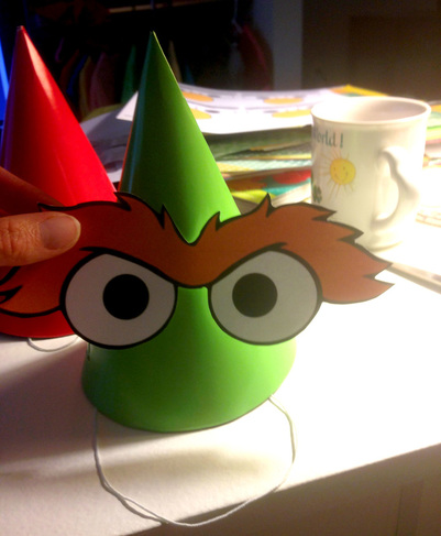 Sesame Street Party Printables - DIY Party Hats