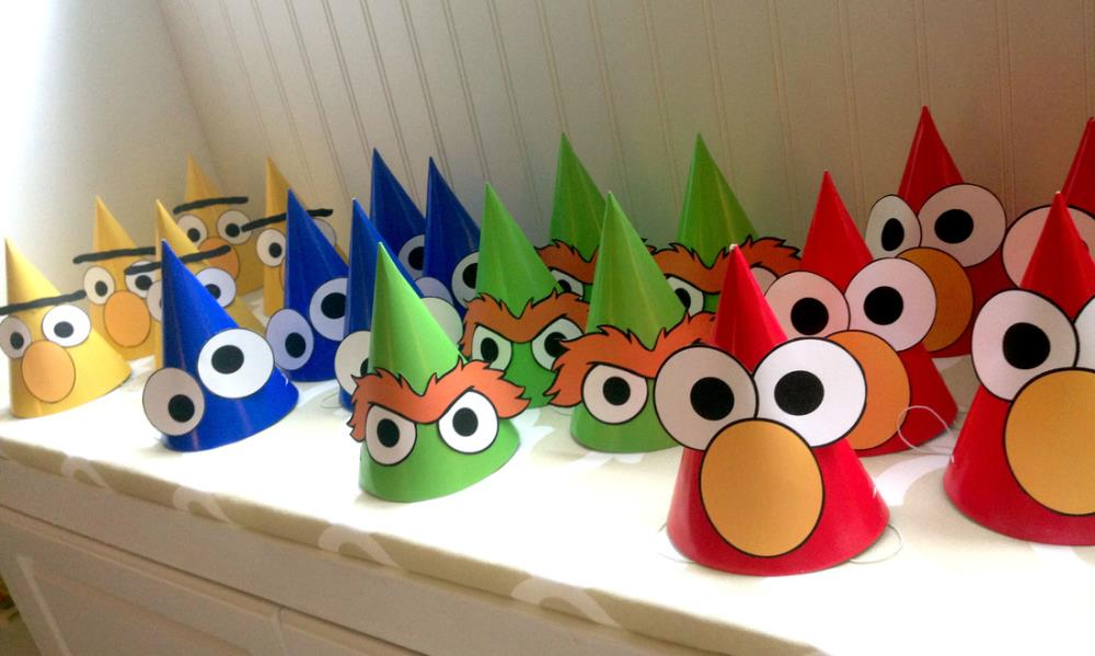 How to Throw An Amazing DIY Sesame Party - Sesame Party Hats