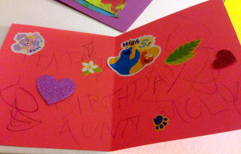 Making Cards with Toddlers