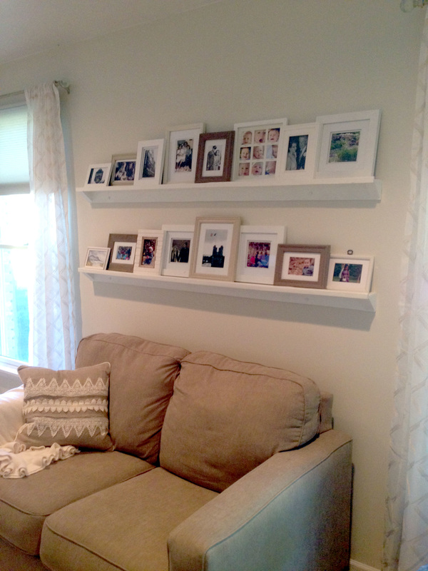 DIY Picture Frame Ledge