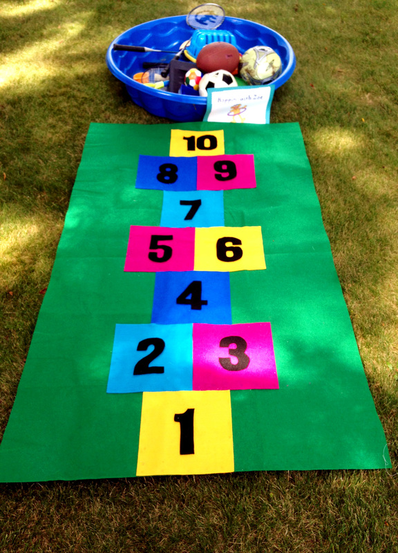 DIY Hopscotch Game - Amazing Sesame Party Games