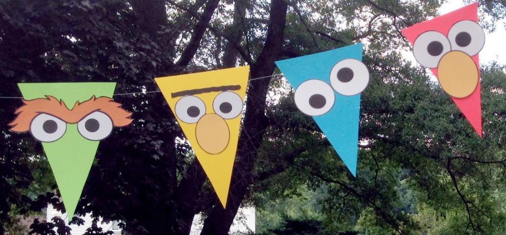 Sesame Street Party Printables - DIY Pennant Banner