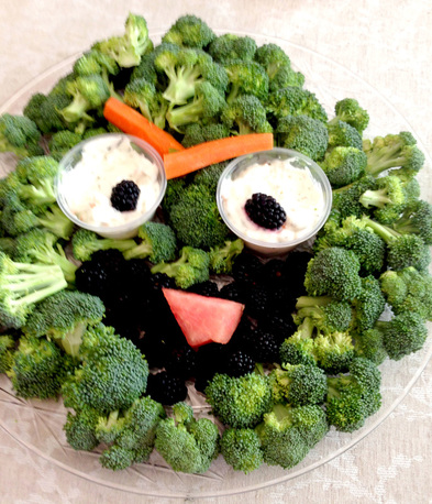 Sesame Street Themed Food - Oscar Broccoli Tray