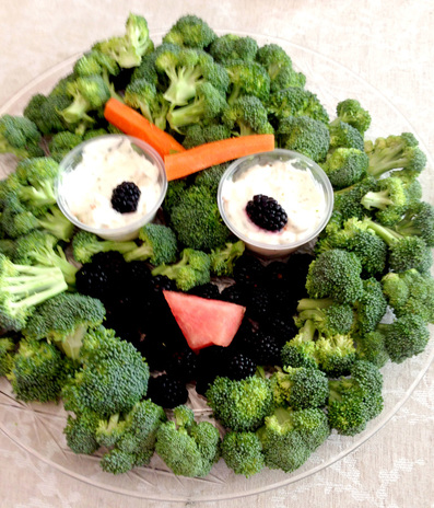 Oscar Broccoli and Veggie Platter - Sesame Street Party Food