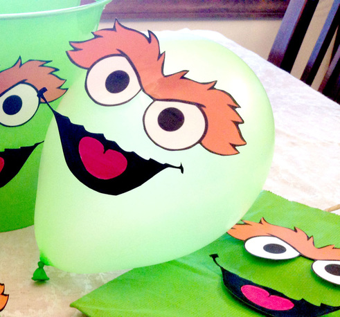 How to Make 7 Sesame Street Party Decorations with the Same Printable
