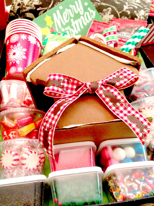 Making DIY Gingerbread House Decorating Gift