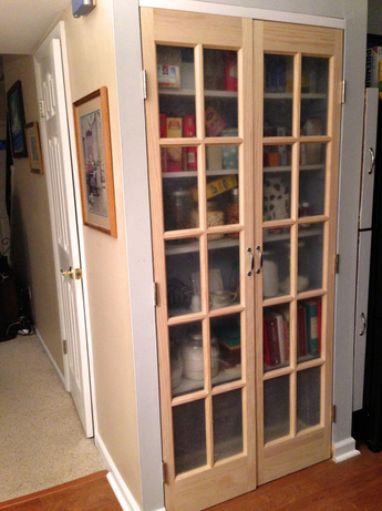 Installing French Doors on the Kitchen Pantry