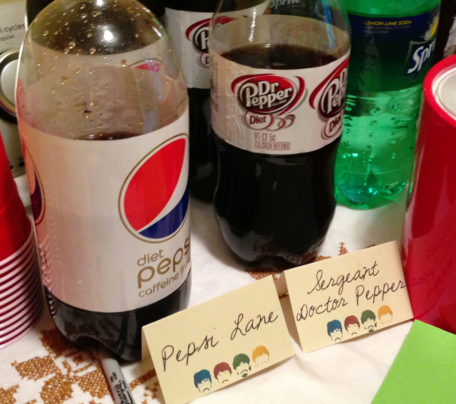 Throwing an Amazing Beatles Party - Drinks labeled after Songs