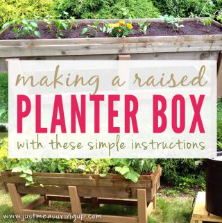 How to make an easy, raised planter box for your garden