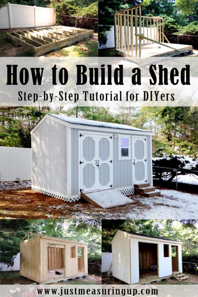 Building a shed from scratch easy step by step tutorial for Shed project