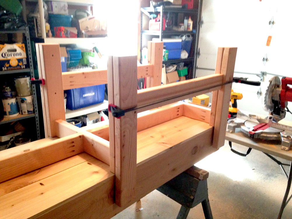 Building the Stand for the DIY Raised Planter Box