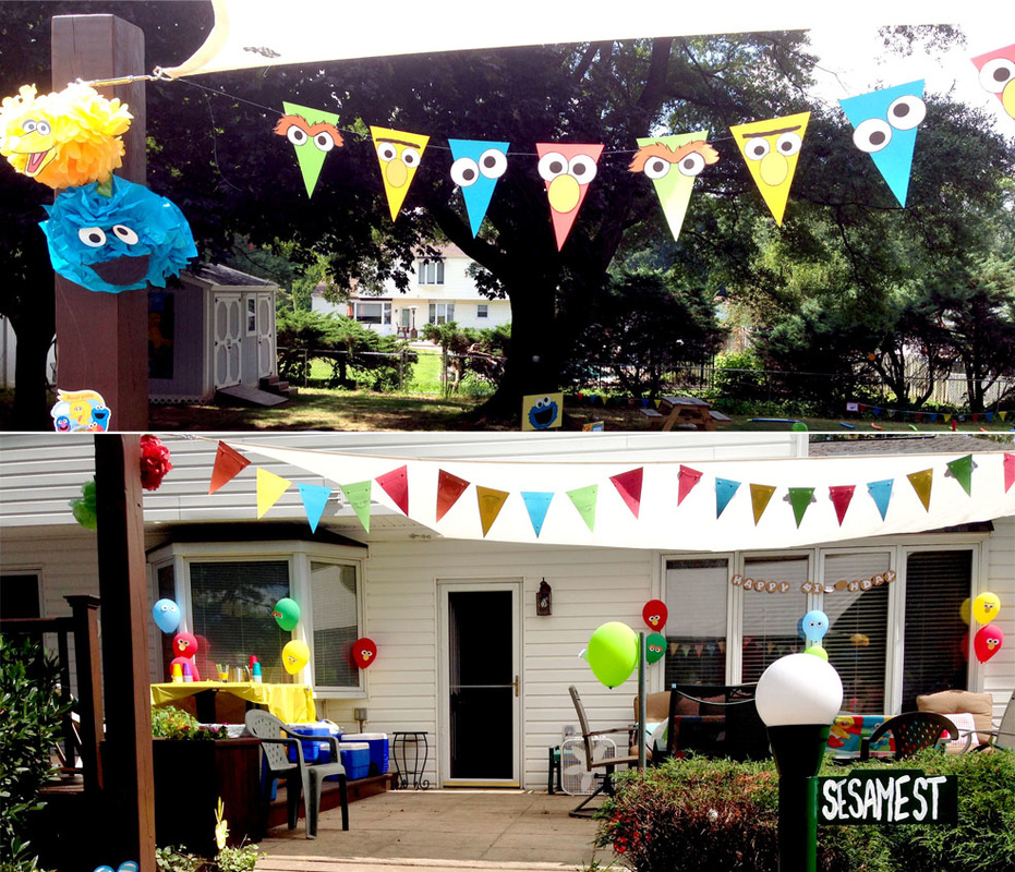 Make 7 Sesame Street Party Decorations with the Same Printable