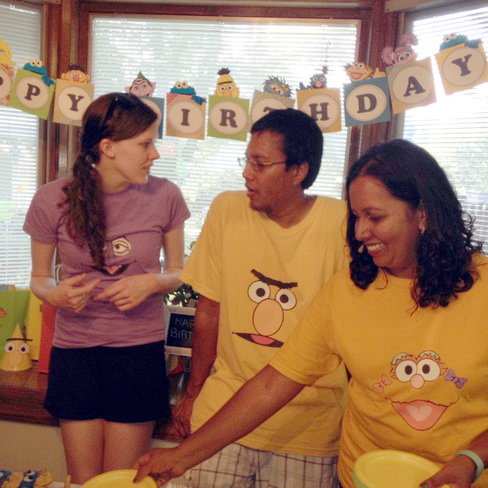 Sesame Street Party Shirts - DIY