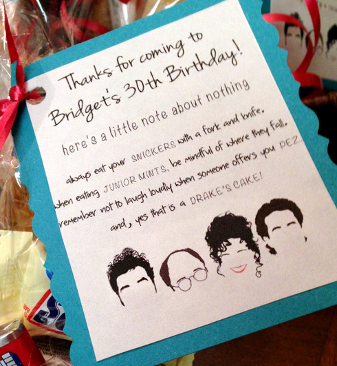 How to Throw an Amazing Seinfeld Theme Party - Seinfeld Goody Bags
