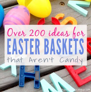 Tons of Ideas for Easter Baskets and Egg Hunts that aren't junk food!